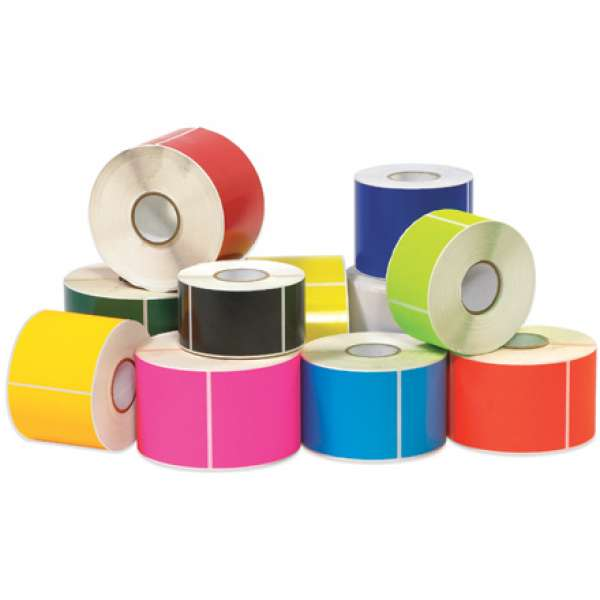 INDUSTRIAL THERMAL TRANSFER LABEL 4  x 3  FLUORESCENT GREEN